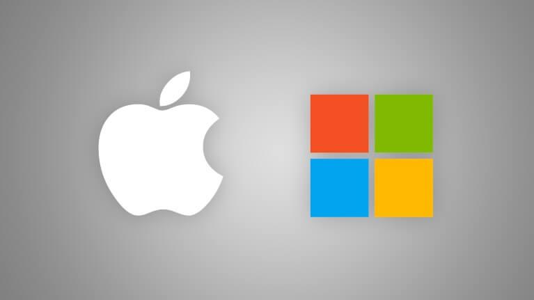 AppleとMicrosoft イメージ