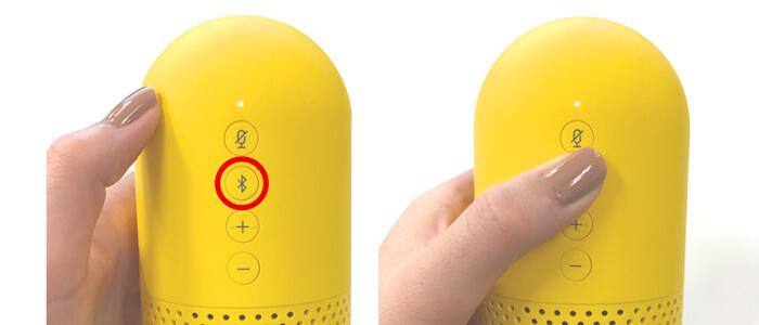 本体のペアリングボタンからBluetooth接続を行う方法