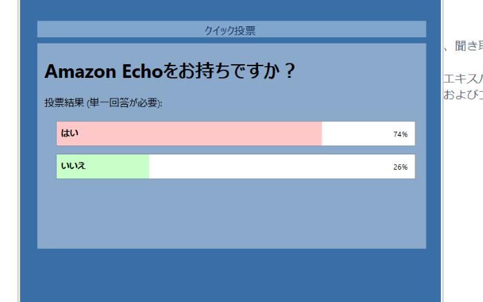 Amazon Echoを持っているか?のアンケート結果