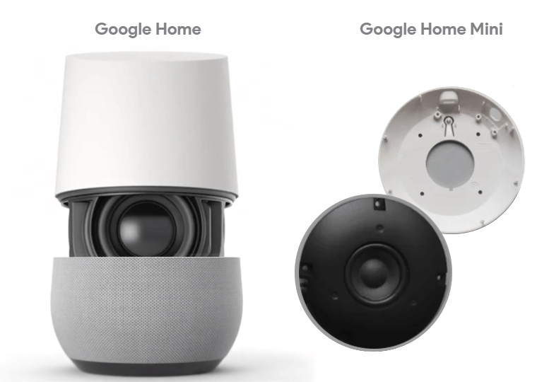 Google HomeとGoogle Home miniのスピーカー音質比較