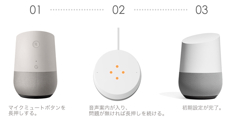GoogleHome初期化・リセット方法