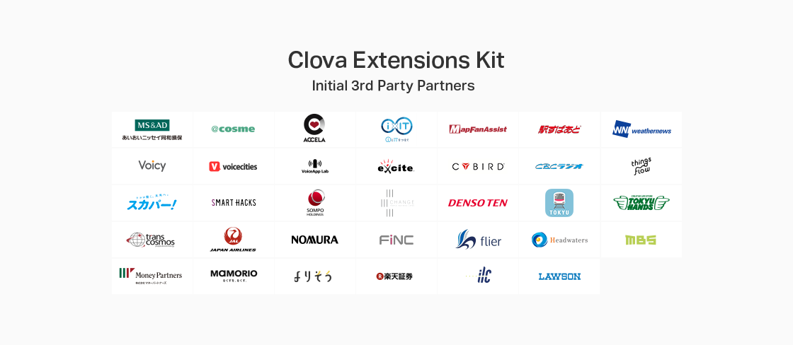 Clova Extensions Kit pertner
