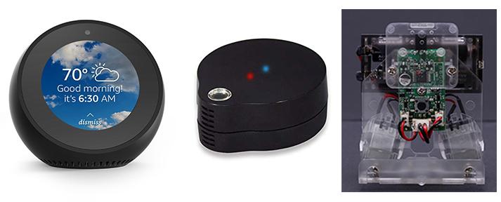 AmazonEchoSpotとロボットとRS-WFIREX3