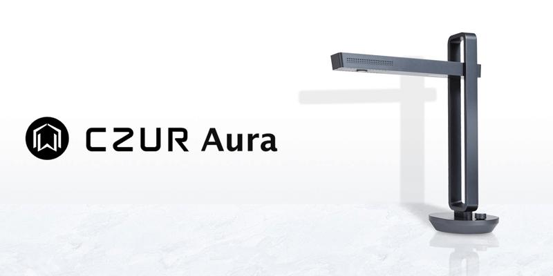 デスクライト型スマートスキャナ「CZUR Aura」