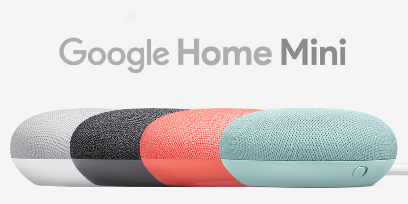 Google Home Mini 4色展開