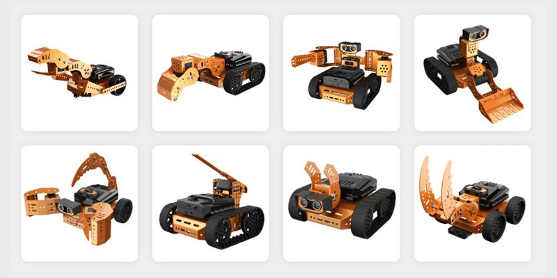 ロボットの組み立て方は自由自在