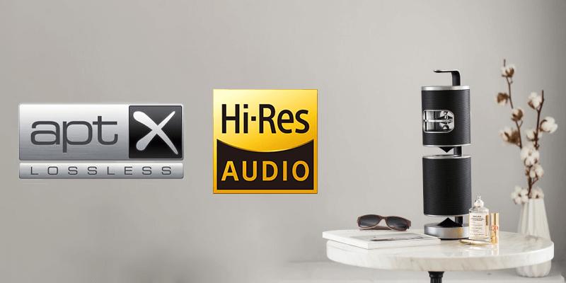ロスレスaptX(Bluetooth)・ハイレゾ音源に対応