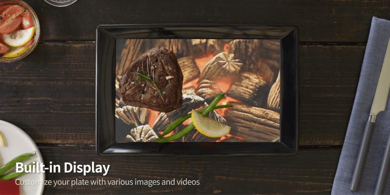 映像や画像で料理を演出する