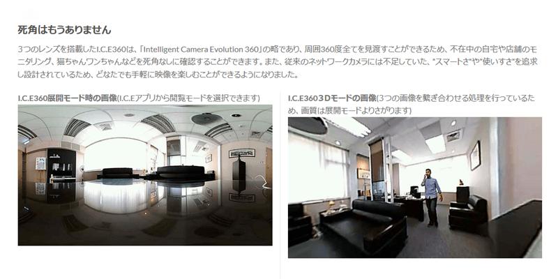 I.C.E 360 – 360度ウェブカメラ イメージ