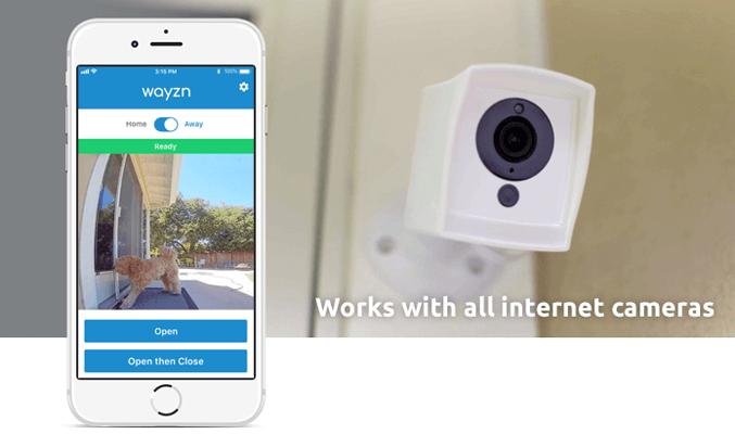 監視カメラと連携しアプリから開閉可能