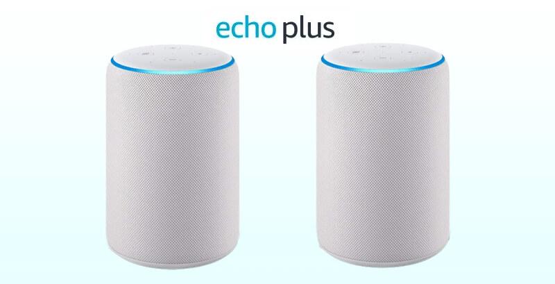 Amazon Echo Plus第2世代(アマゾンエコープラス)2台でステレオ