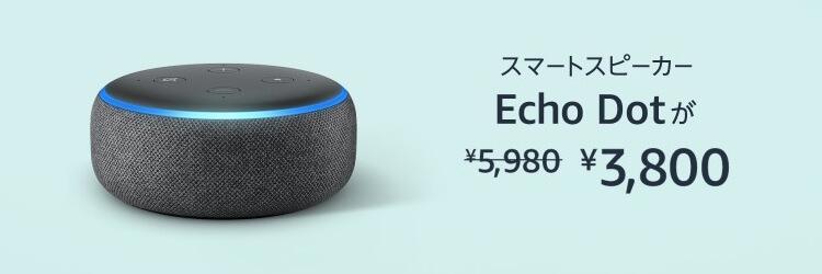 AmazonEcho Dotセール