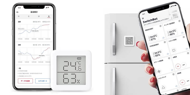 SwitchBot温度湿度センサー